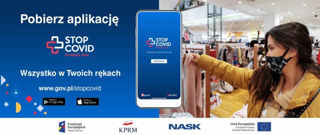 Pobierz aplikację STOP COVID